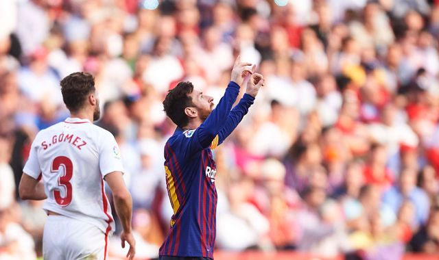Lionel Messi seals Barcelona win over Sevilla with 50th career hat-trick