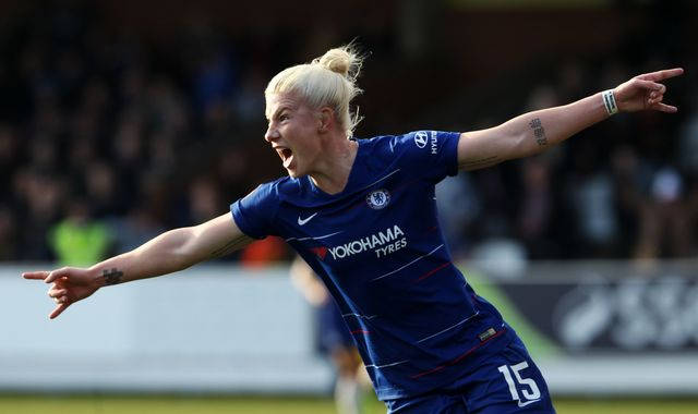 Women's FA Cup: Bethany England double helps Chelsea beat Arsenal