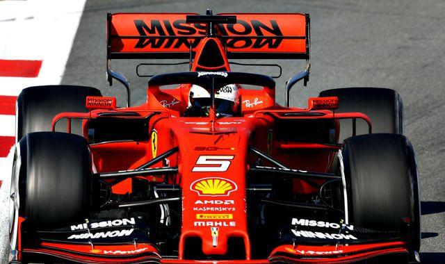 F1 Testing, Day One First Test: Sebastian Vettel fastest, McLaren second