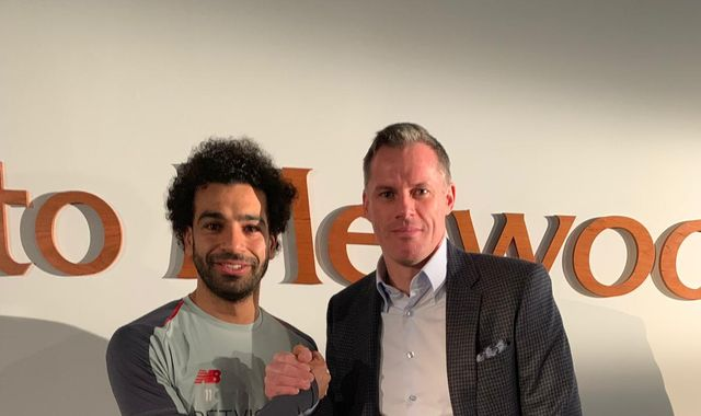 Jamie Carragher meets Mo Salah ahead of Manchester United vs Liverpool