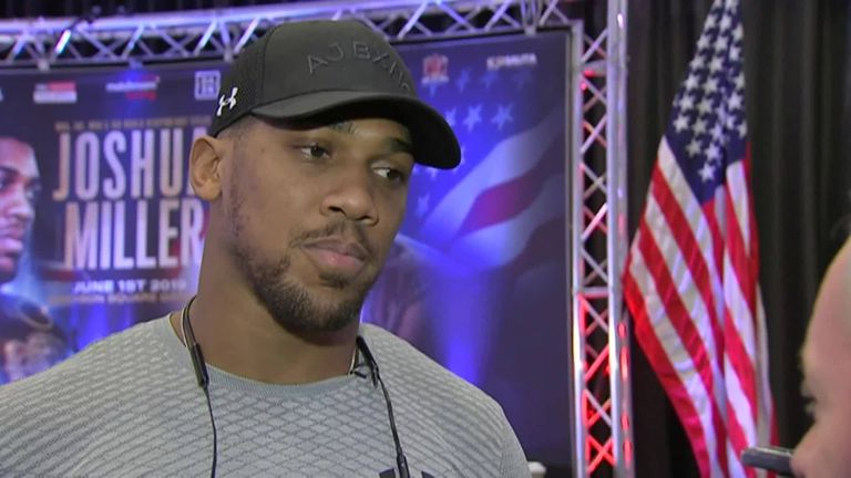 Joshua vs Miller  Anthony Joshua and Jarrell  Big Baby  Miller could become  locked in a dispute about training 0f27b47ab390