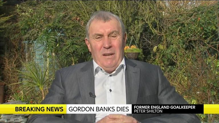 Peter Shilton reminisces on his time spent playing football with Gordon Banks
