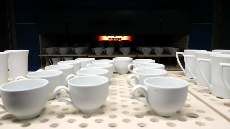 UK factory producing china