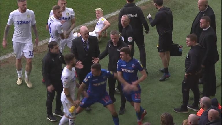 WATCH: Melee between Leeds and Bolton players in Elland Road clash | Football News |