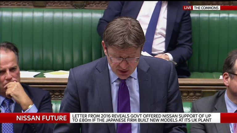 Business Secretary Greg Clark reacts to Nissan statement