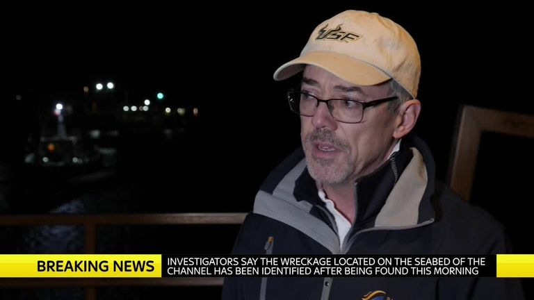 David Mearns told Sky News his team located Emiliano Sala's plane wreckage