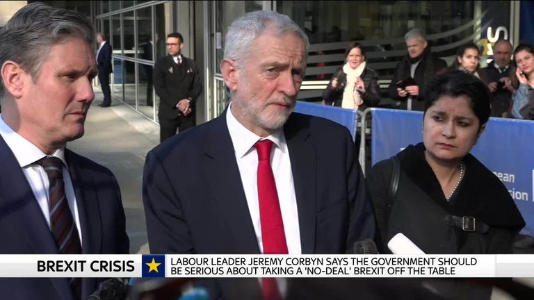 Jeremy Corbyn in Brussels