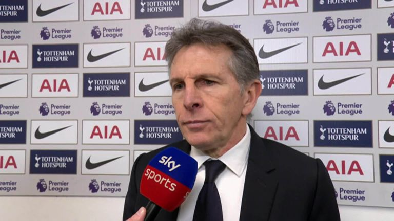 5:12                                               Claude Puel says his Leicester side had more than enough chances to win against Tottenham but they just could