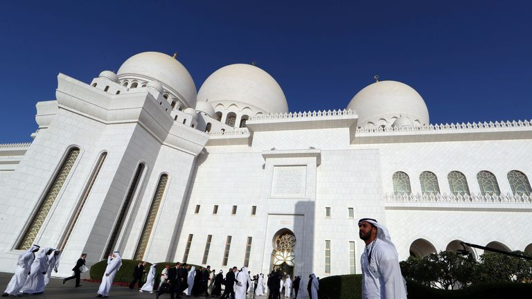 Pope Francis met Islamic leaders at the Sheikh Zayed Grand Mosque in Abu Dhabi
