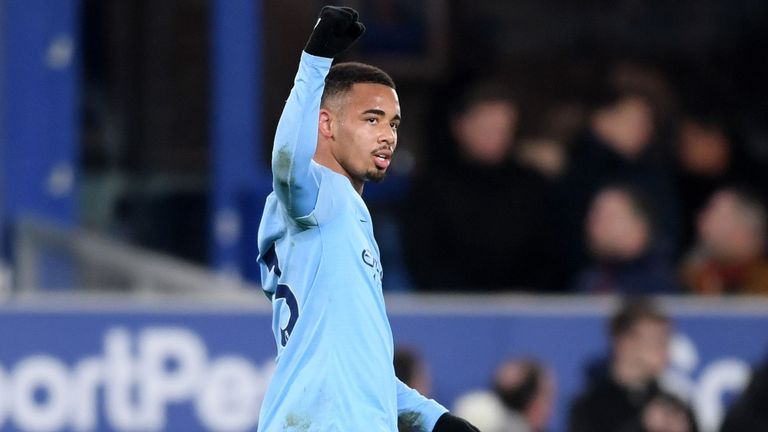 Everton 0-2 Manchester City: Aymeric Laporte and Gabriel Jesus send City top