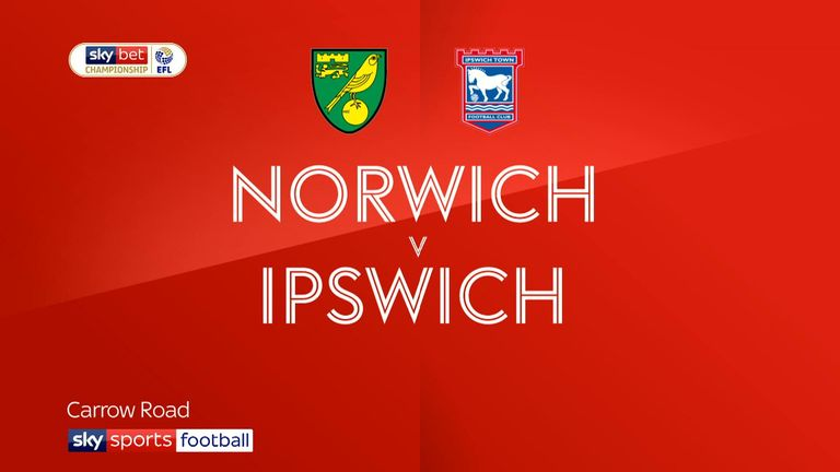Highlights of the Sky Bet Championship match between Norwich City and Ipswich Town.