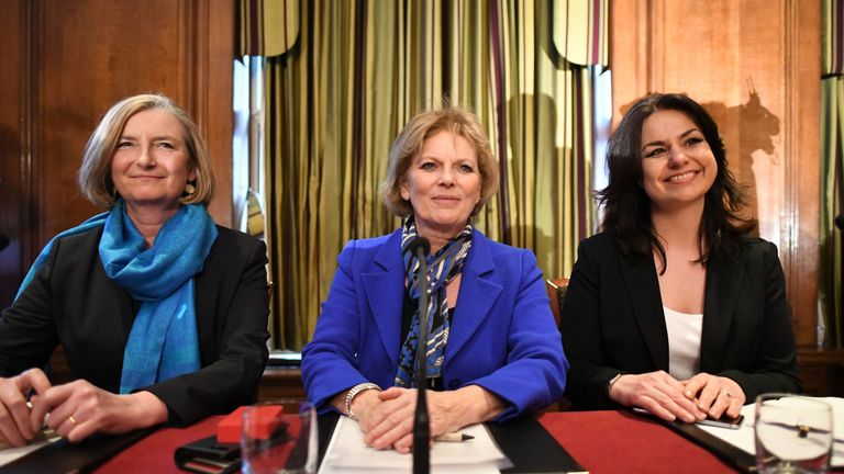 MPs Sarah Wollaston, Anna Soubry and Heidi Allen have left the Tory party and joined the Independent Group