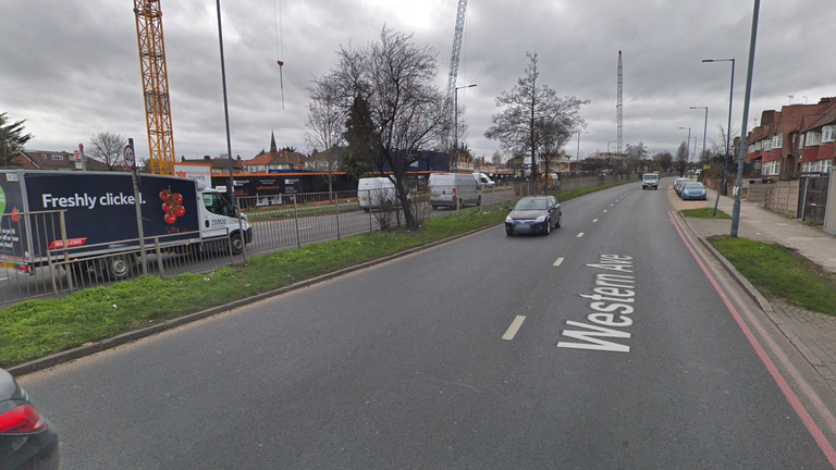The site of the crash on the A40 in Acton. Pic: Google Maps