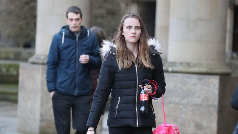 Toni McLachlan, girlfriend of Robert MacPhail (back), was accused by the 16-year-old suspect of killing Alesha MacPhail