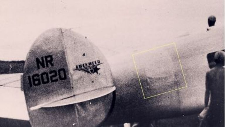 An image showing the patch on the Electra. Pic: TIGHAR