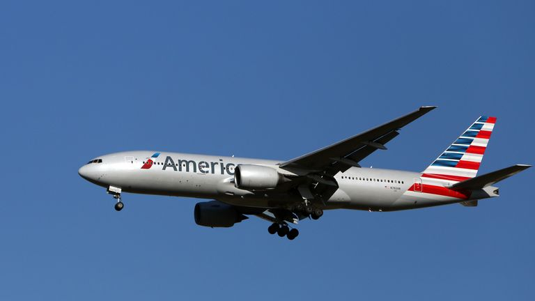 The American Airlines pilot was arrested at Manchester Airport on suspicion of being drunk