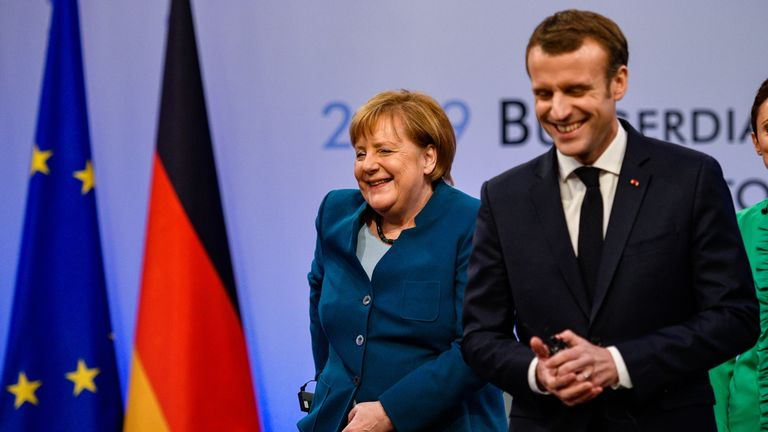 Mr Macron and Mrs Merkle also want a deal for the EU and UK