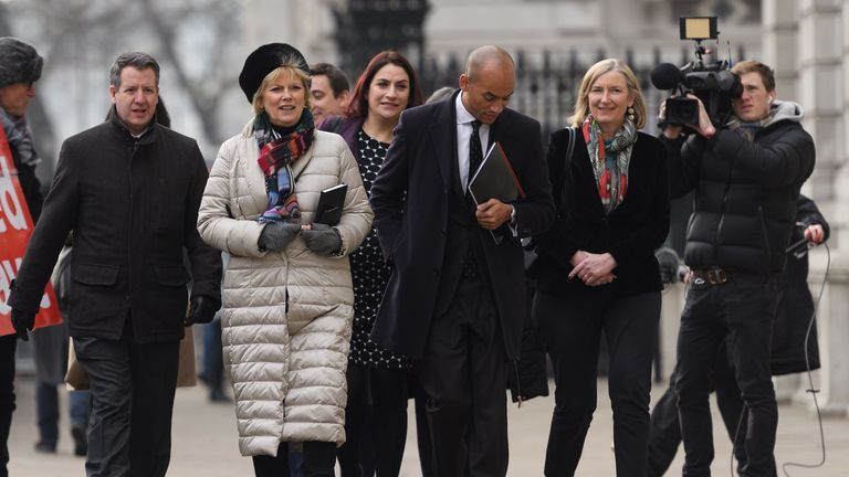 There is growing speculation that Anna Soubry, second left, and Sarah Wollaston, right, could be about to join the independent group of MPs