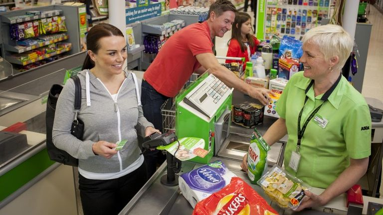 An Asda checkout