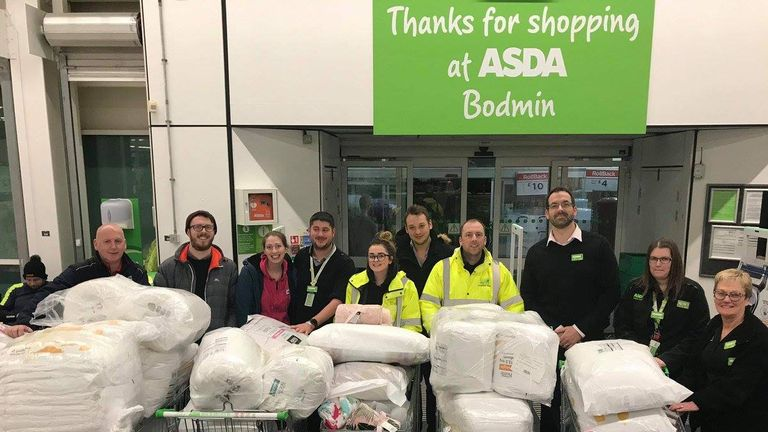 Staff at Asda donated around £800 worth of bedding