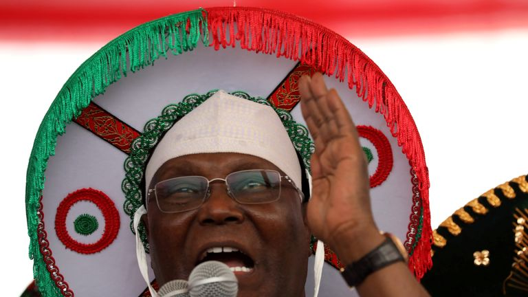 igeria's main opposition party presidential candidate Atiku Abubakar