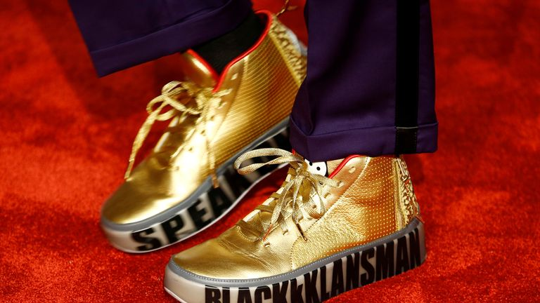 The shoes of Spike Lee as he arrives at the British Academy of Film and Television Awards