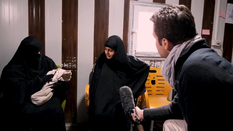 shamima begum and baby in syria refugee camp