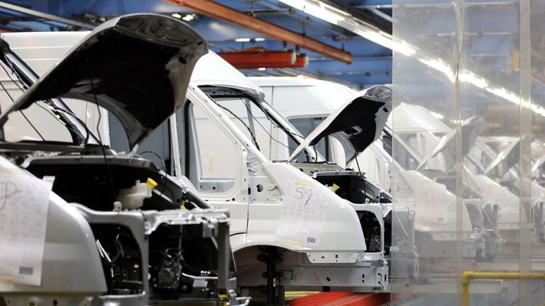 Ford Transit Van production line