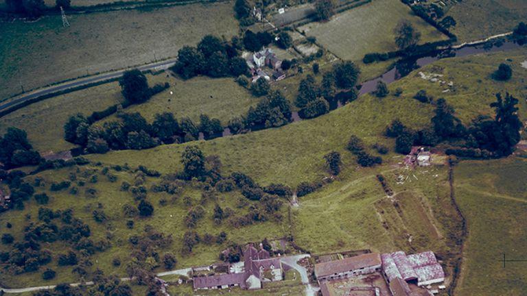 Stokesay Castle in Shropshire, taken on 18 July, 1948