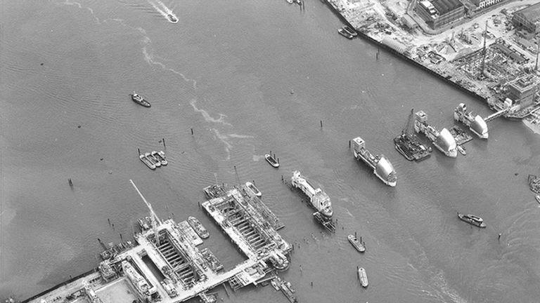 Thames barrier, taken on 18 June, 1980