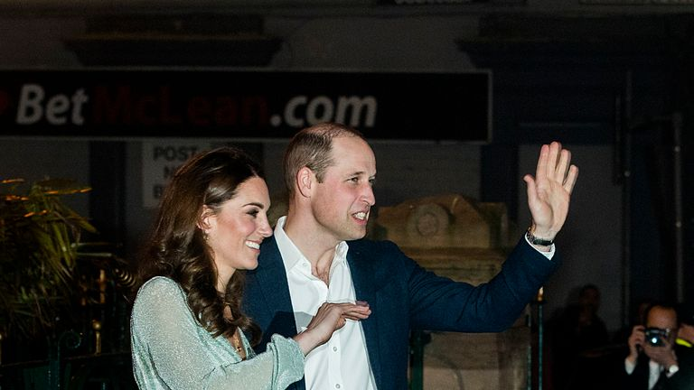 The Duke and Duchess of Cambridge visited the Empire Music Hall in Belfast