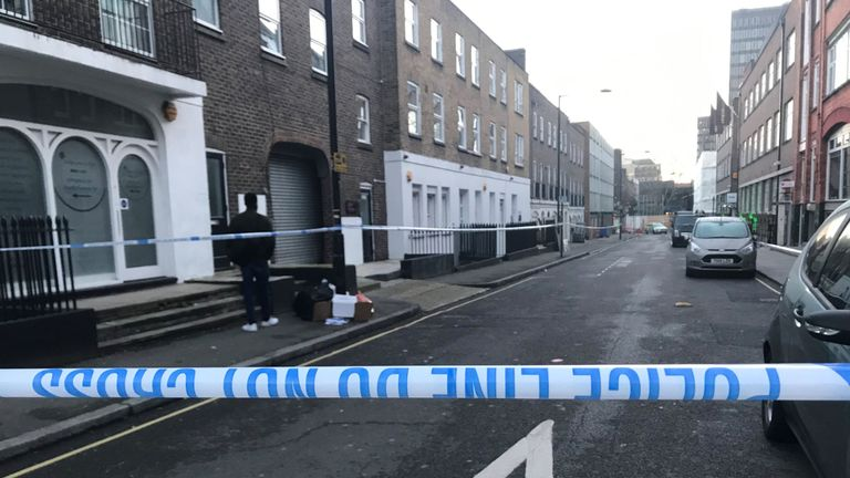 Detectives are investigating in Euston St, Camden