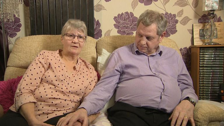 Elaine Yates had to give up work to become her husband Michael's carer