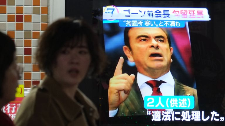 Carlos Ghosn was been in custody in Tokyo since 19 November