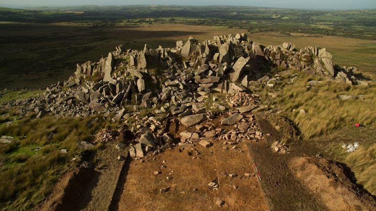 Quarry at Carn Goedog. Pic: Aerial-Cam Ltd/UCL