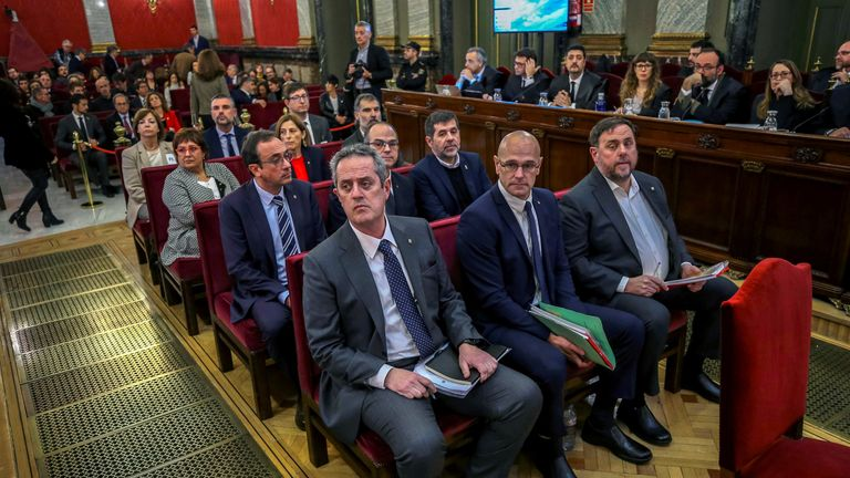 Catalan separatists on trial