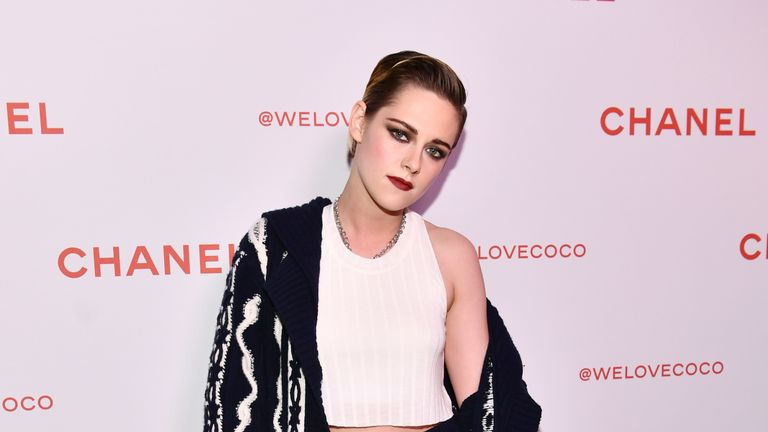 Twilight actress Kristen Stewart wears Chanel at one of the brand's parties in 2018