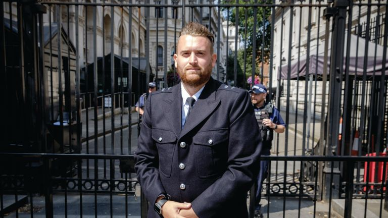 PC Charlie Guenigault said wearing his uniform 'felt right'. Credit: MartisMedia