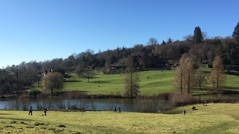There were clear blue skies in Chartwell, Kent. Pic: Dom White