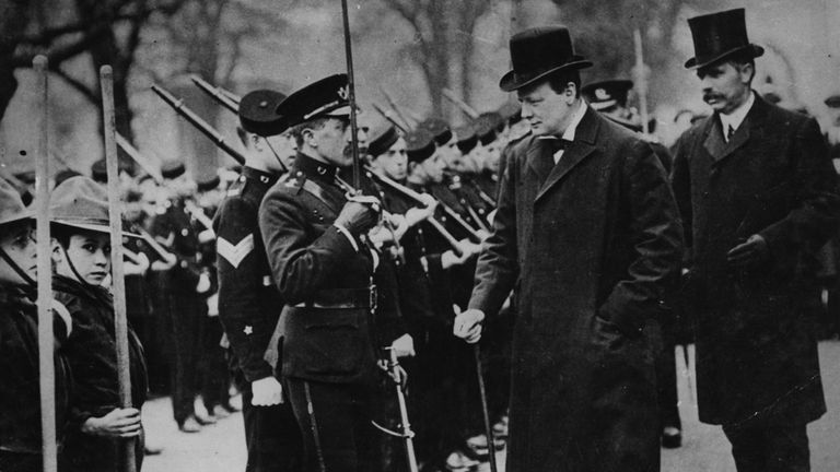 Winston Churchill as home secretary in 1910
