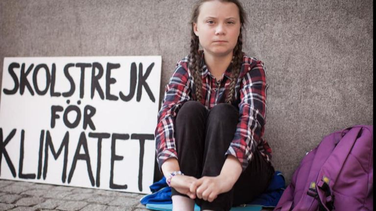 Greta Thunberg started the Youth Strike 4 Climate campaign