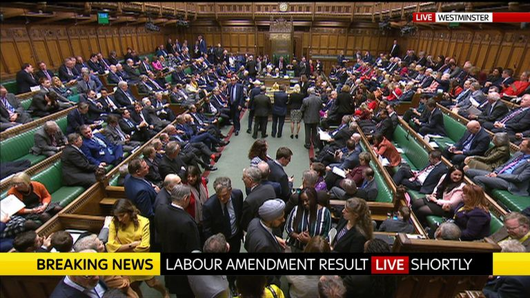 Labour's Brexit plans have been voted down by MPs