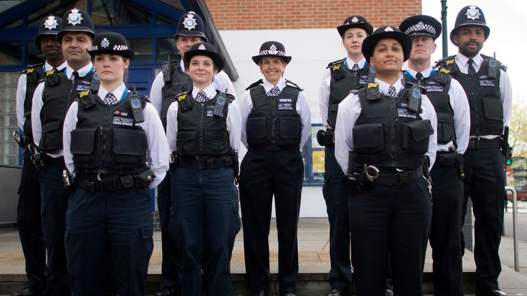 Cressida Dick and Met officers