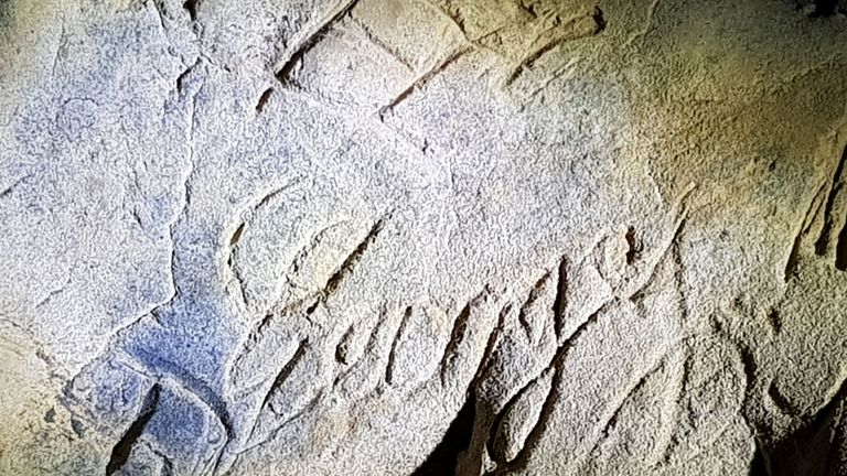Hundreds of marks were found in just one of the caves