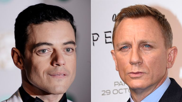 Rami Malek and Daniel Craig. Malek is reported to be in talks to play the villain in the next James Bond film