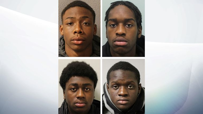 (Top left to bottom right) Demario Williams, Lawrence Nkunku-Linongi, Thierry Edusei and Paul Glasgow