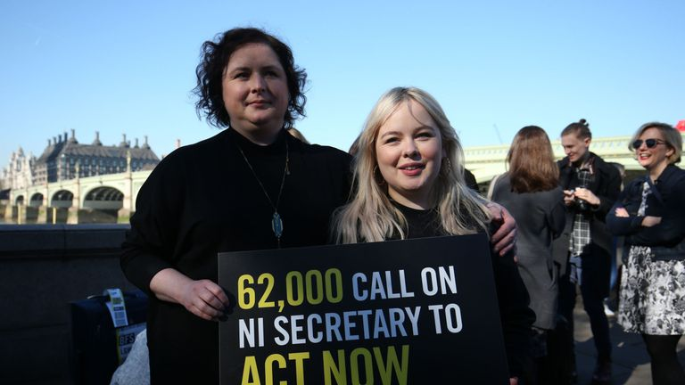 Siobhan McSweeney and Nicola Coughlan (right) from Derry Girls