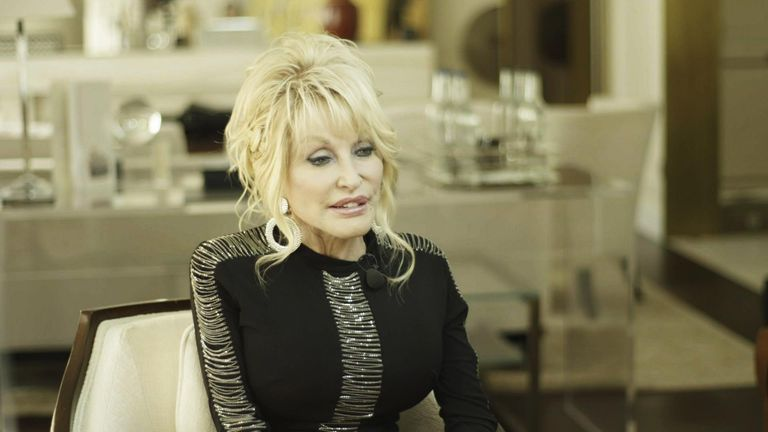 Dolly Parton speaks to Sky News about 9 to 5 the musical