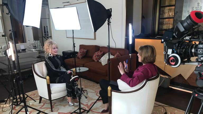 Dolly Parton sits down with Sky News