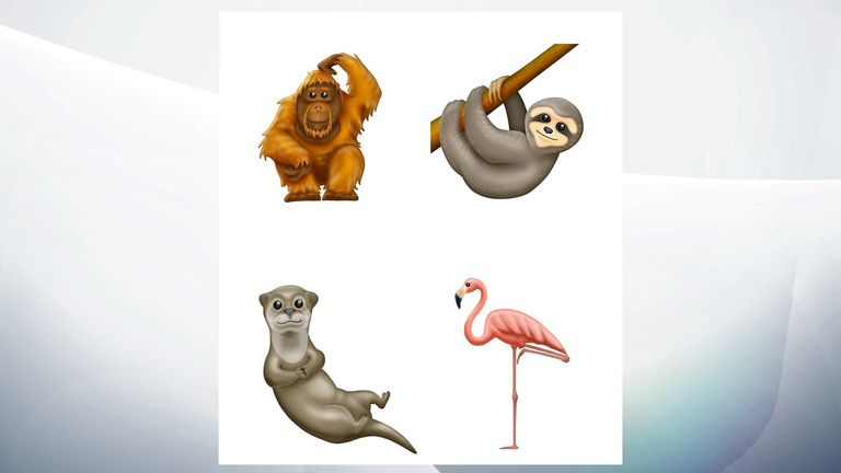 Some of the new animal emoji from Unicode